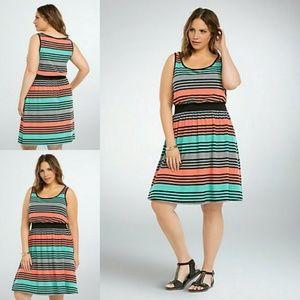 Torrid Jersey Knit Striped Dress w/ Pockets 0